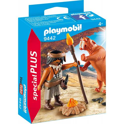 Playmobil 9442 Caveman with Sabertooth Tiger