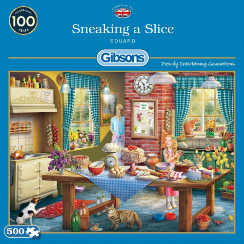 Gibsons Sneaking A Slice 500pc Puzzle