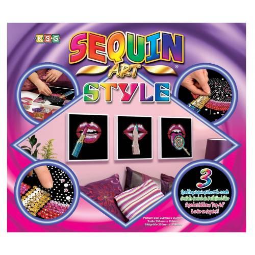 Sequin Art Ltd. Sequin Art Style Pop Art 3 Lips 1608