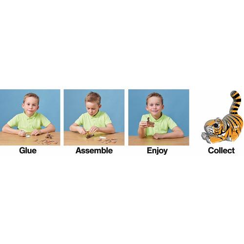 Eugy - 3D Model Craft Kit - Tiger
