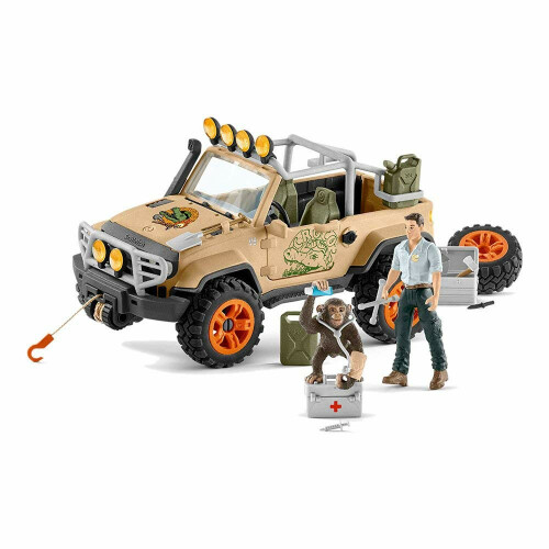 Schleich Wild Life 42410 4x4 Vehicle with Winch
