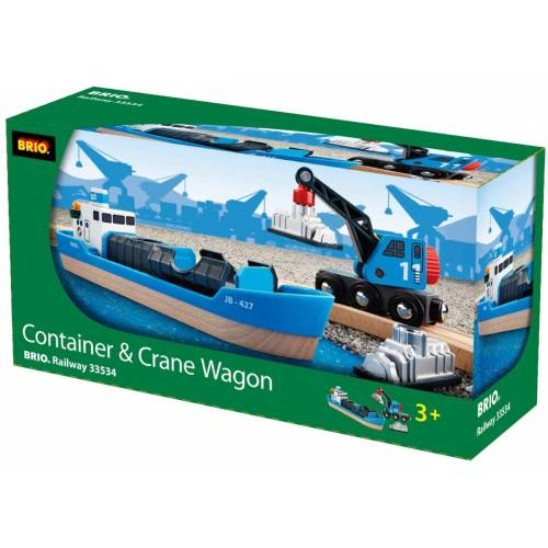 Brio 33534 Freight Ship and Crane