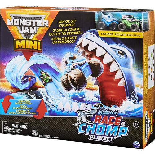 Monster Jam Mini Megalodon Race & Chomp Playset