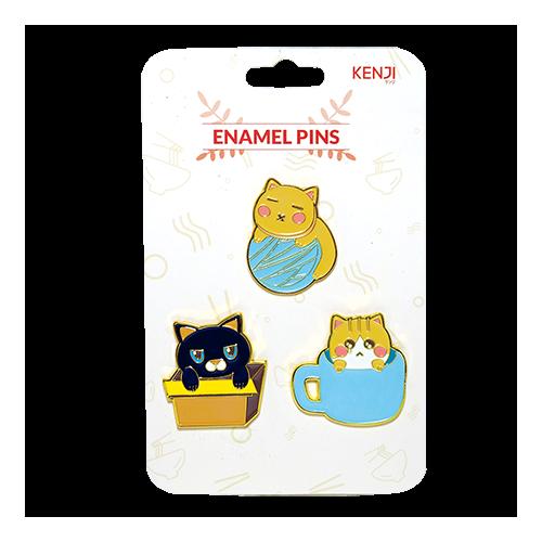 Kenji Enamel Pins  - Cat Things