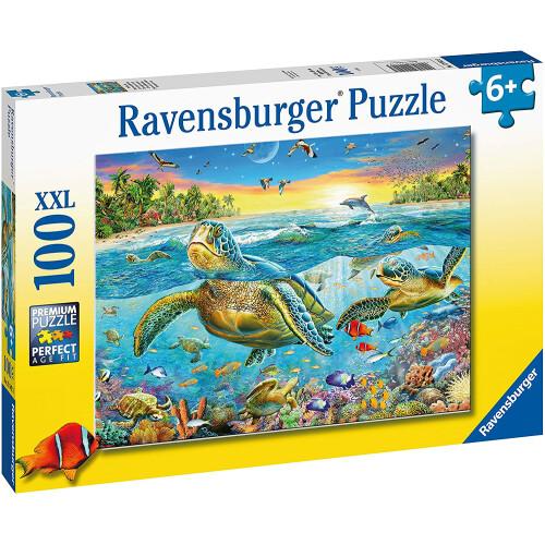 Ravensburger 100 XXL Piece Puzzle Swim with Sea Turtles