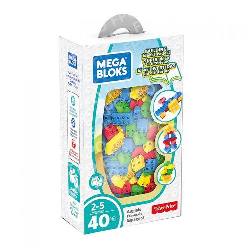 Mega Bloks Lets Build - Red - Yellow - Green - Blue