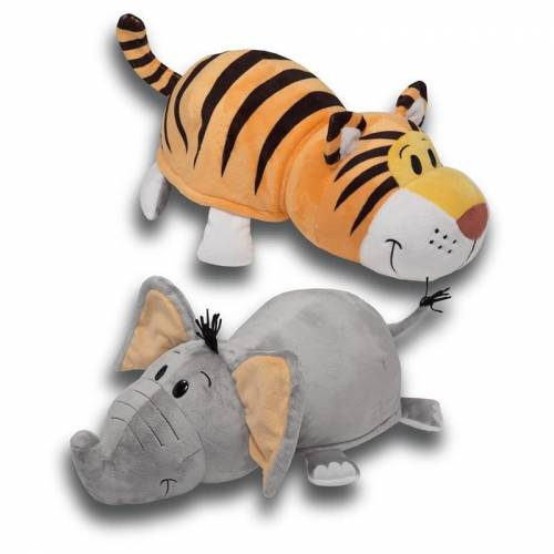 "FlipaZoo 16"" Plush - Elephant / Tiger"