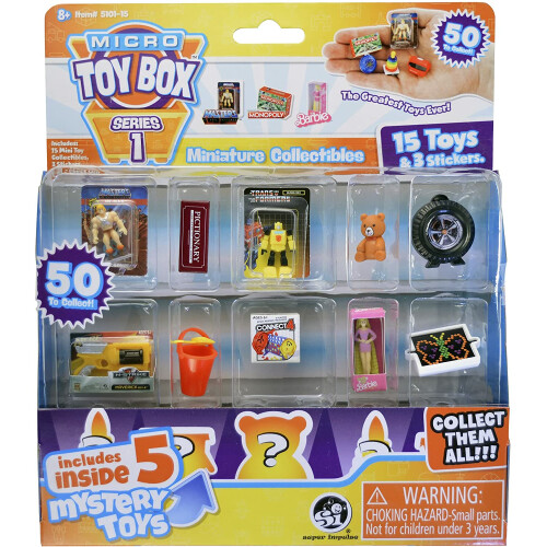 Micro Toy Box Miniature Collectibles 15 Pack Series 1