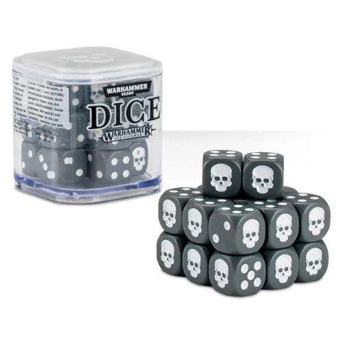 Warhammer Accessories - Citadel Dice Cube: Grey