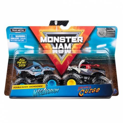 Monster Jam - 2 Pack - Megalodon vs Pirate's Curse