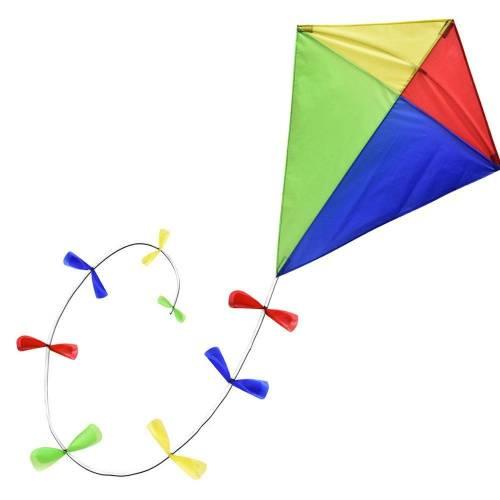 Brookite Classic Diamond Kite With Bow Tail