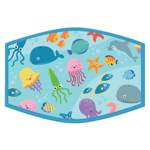 Washable Face Protector - Kids Size - Sealife