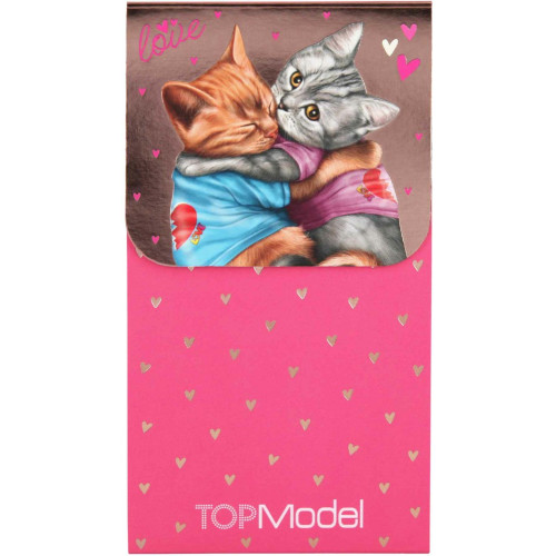 Depesche Top Model Notepad with Magnetic Clip, Love Cats
