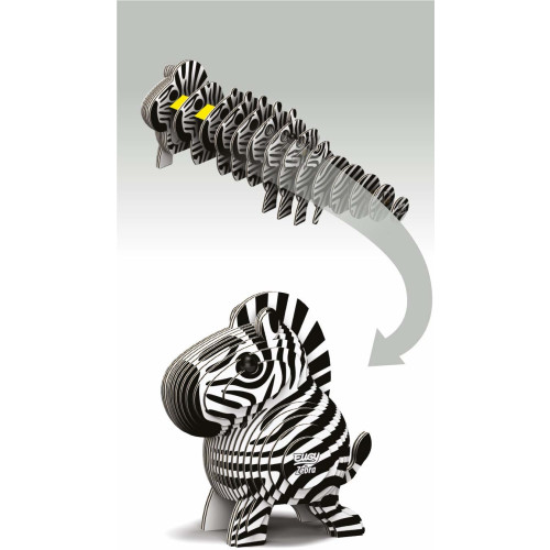 Eugy - 3D Model Craft Kit - Zebra