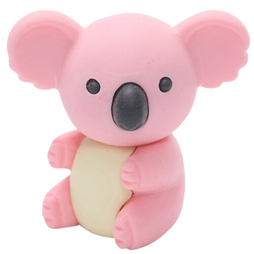 Iwako Puzzle Eraser - Forest Animals - Koala (Pink)