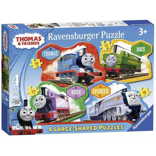 Ravensburger 4 Large Shaped Puzzles in a Box Thomas & Friends