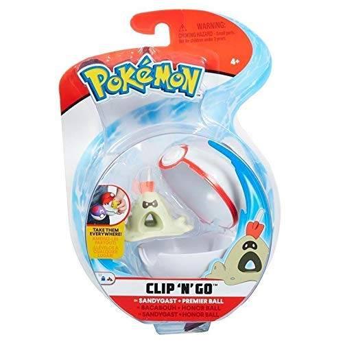 Pokemon Clip 'n' Go - Sandygast & Premier Ball