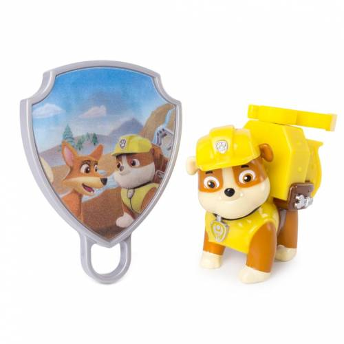 Paw Patrol Action Pack Pup with Extendable Hook and Badge - Rubble
