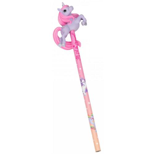Depesche Ylvi & the Minimoomis Pencil With 3D Unicorn Topper - Purple