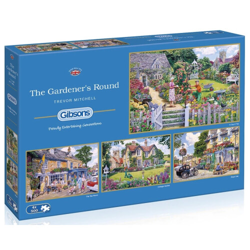 Gibsons The Gardener's Round 4x 500pc Puzzles