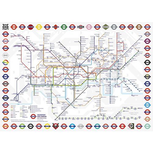 Gibsons London Underground 1000pc Puzzle