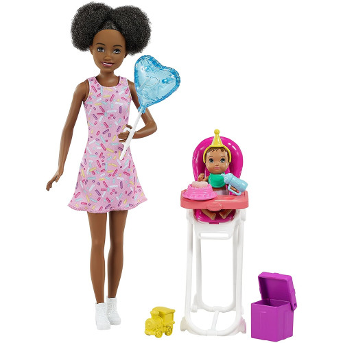 Barbie Skipper Babysitters INC Dolls And Playset - (Black Hair)