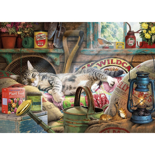 Gibsons Snoozing in the Shed 1000pc Puzzle