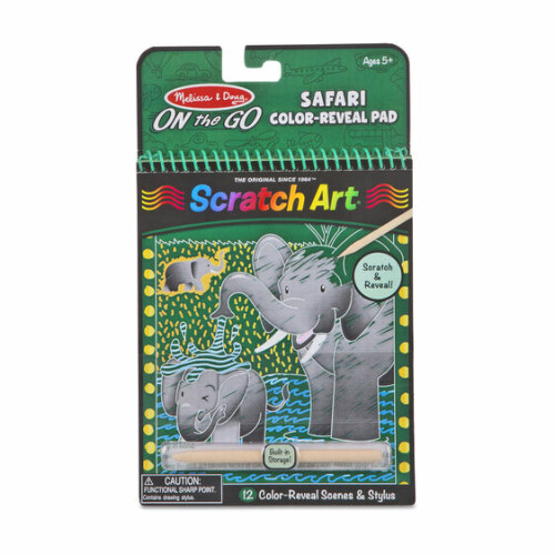 Melissa & Doug Scratch Art Safari Colour-Reveal Pad