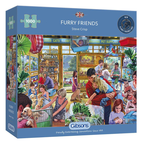 Gibsons Furry Friends 1000pc Puzzle
