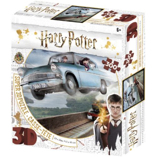 Harry Potter Super 3D Puzzle 300pc - Weasley's Ford Anglia