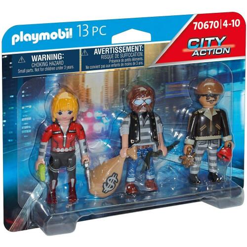 Playmobil  70670 City Action Police Thief Figure Set