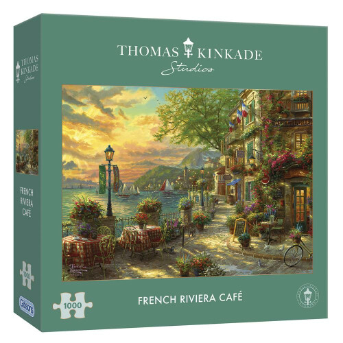 Gibsons Thomas Kinkade French Riviera Cafe 1000pc Puzzle