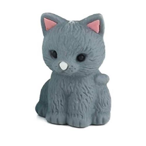 Iwako Puzzle Eraser - Pastel Cat (Grey)