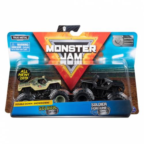 Monster Jam - 2 Pack - Soldier Fortune vs Soldier Fortune Black Ops