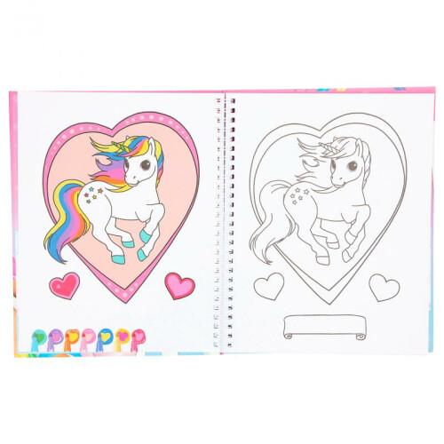 Depesche Ylvi & the Minimoomis Colouring Book with Pens Set