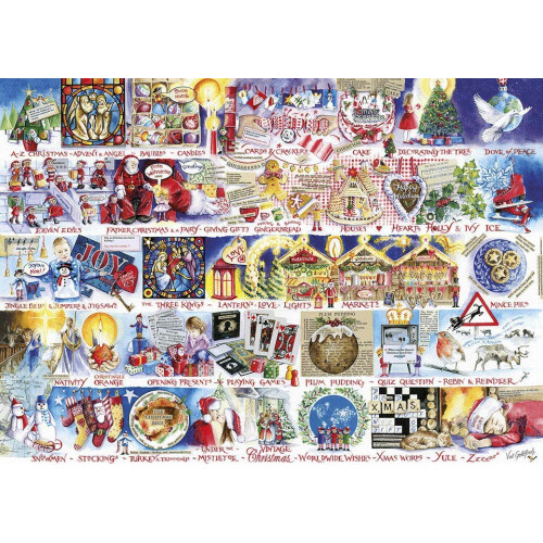 Gibsons Christmas Alphabet 1000pc
