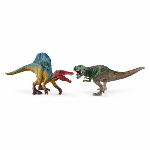 Schleich Dinosaurs 41455 Spinosaurus and T-rex, Small