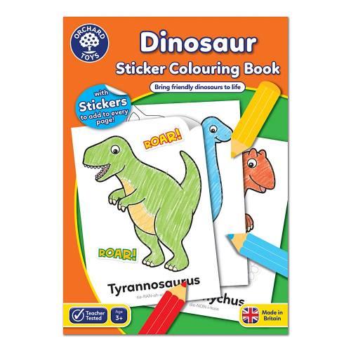 Orchard Dinosaur Sticker Colouring Book