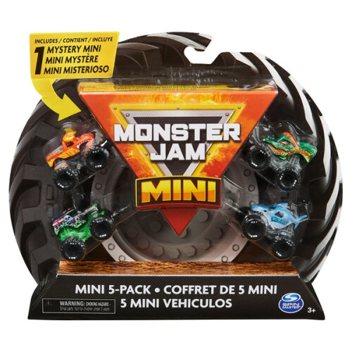 Monster Jam Mini 5 Pack 1:87