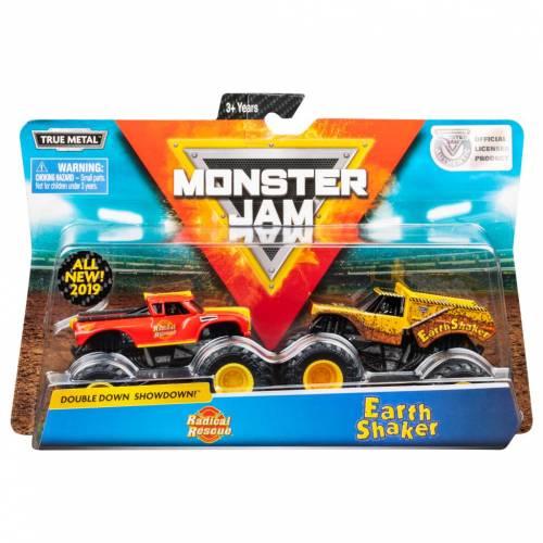 Monster Jam - 2 Pack - Radical Rescue vs Earth Shaker