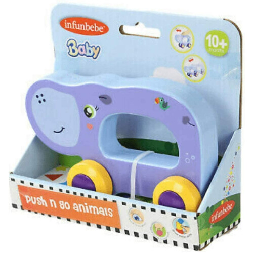 Infunbebe Push N Go Animals - Hippo