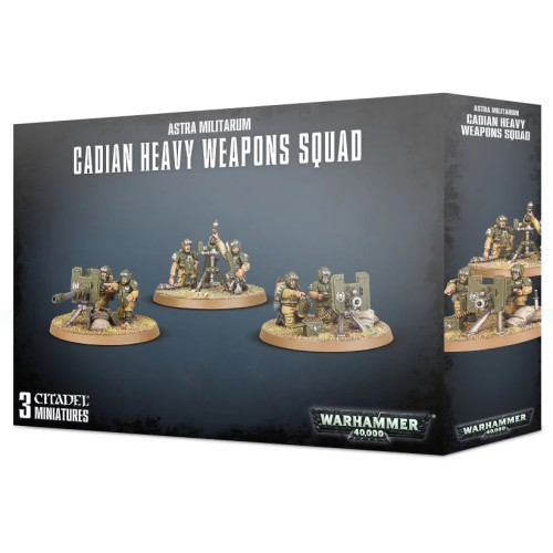 Warhammer 40,000 - Astra Militarum Cadian Heavy Weapons Squad