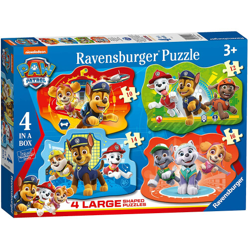 Ravensburger 4 Large Shaped Puzzles Paw Patrol