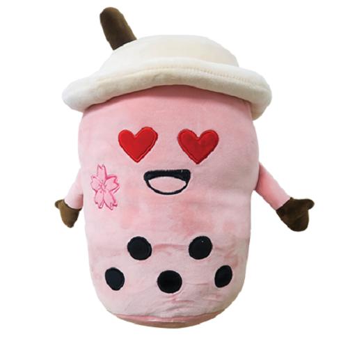 Kenji Plush - Yabu Boba Man - Pink Heart Eyes