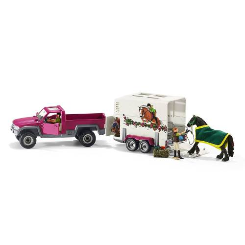 Schleich Horse Club 42346 Pick Up with Horse Box