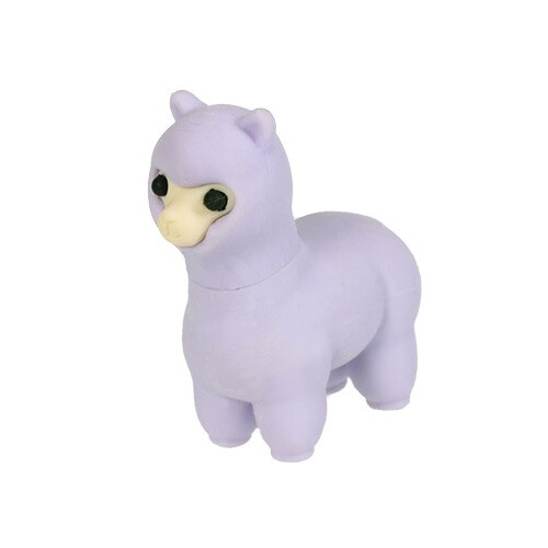 Iwako Puzzle Eraser - Sheep and Alpaca - Alpaca (Purple)