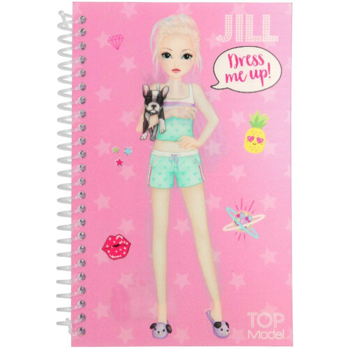 Depesche Top Model Dress Me Up Pocket Stickerbook - Jill