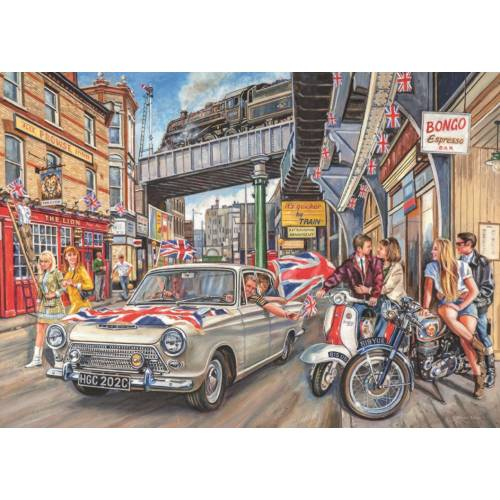 Falcon de luxe Spirit of the Sixties 1000pc Jigsaw Puzzle