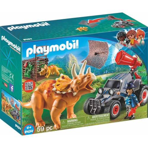 Playmobil 9434 Explorer Quad with Triceratops