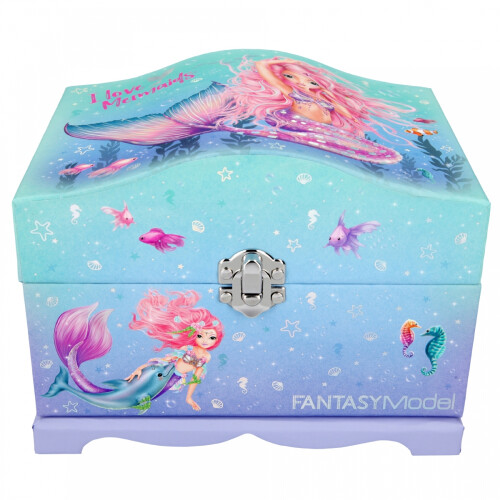 Depesche Top Model Fantasy Model Jewellery Box with Light, Mermaid
